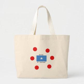 Somali Language And Somalia Flag Design Large Tote Bag