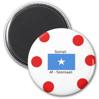 Somali Language And Somalia Flag Design Magnet