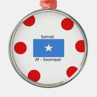 Somali Language And Somalia Flag Design Metal Ornament