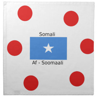 Somali Language And Somalia Flag Design Napkin