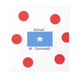 Somali Language And Somalia Flag Design Notepad