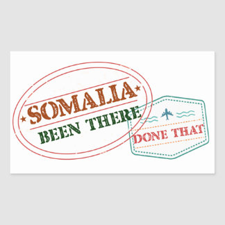 Somalia Been There Done That Rectangular Sticker