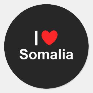 Somalia Classic Round Sticker