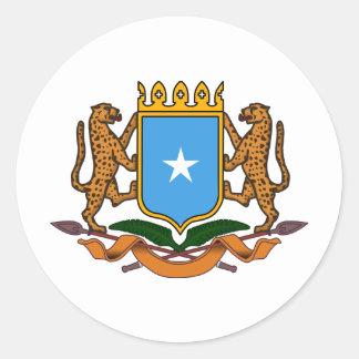 Somalia coat of arms classic round sticker