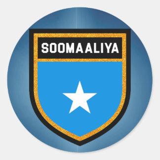 Somalia Flag Classic Round Sticker