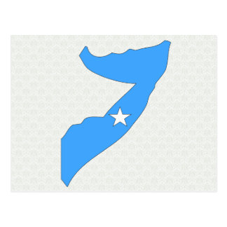 Somalia Flag Map full size Postcard
