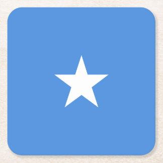 Somalia Flag Square Paper Coaster