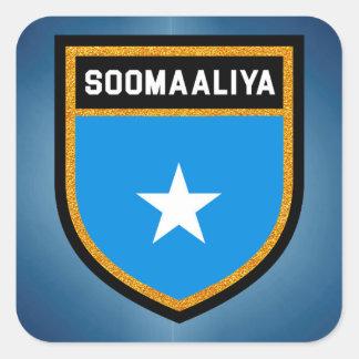 Somalia Flag Square Sticker