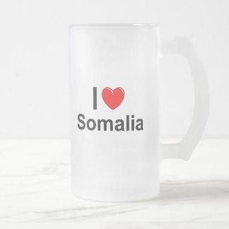 Somalia Frosted Glass Beer Mug