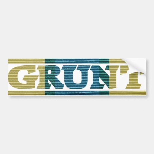 Somalia GRUNT Campaign Ribbon Bumper Stickers