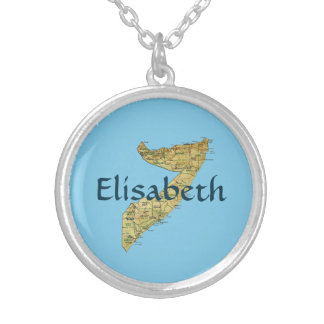Somalia Map + Name Necklace