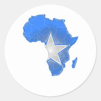 Somalia Round Sticker