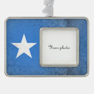 Somalia Silver Plated Framed Ornament