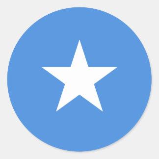 Somalia/Somali/Somalian Flag Classic Round Sticker