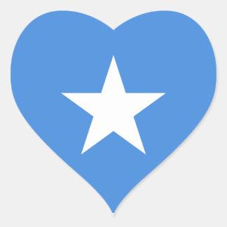 Somalia/Somali/Somalian Flag Heart Sticker