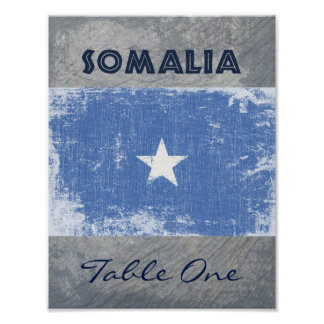 Somalia Table Number Poster