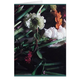 Somber Flowers Card