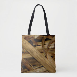 Somber Straw Tote Bag