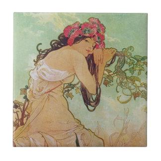 Somber Woman Tiles