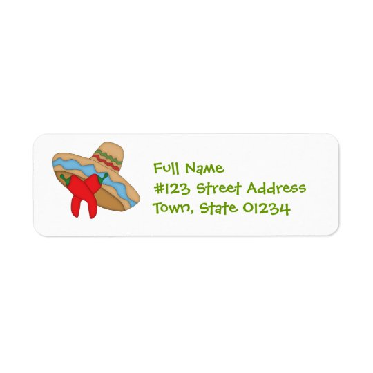 Sombrero and Peppers Mailing Labels
