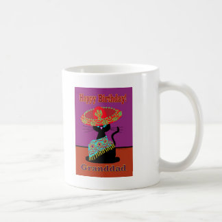 Sombrero Cat Granddad Basic White Mug