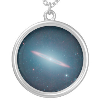 Sombrero Galaxy Silver Plated Necklace