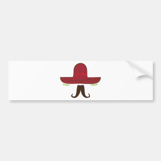 Sombrero Hat Bumper Sticker