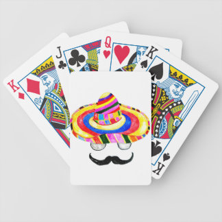 Sombrero Hat Watercolor 2 Bicycle Playing Cards