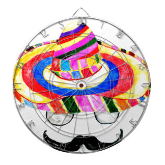 Sombrero Hat Watercolor 2 Dartboard