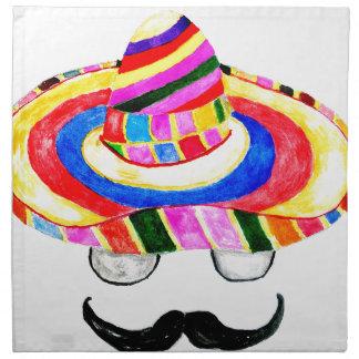 Sombrero Hat Watercolor 2 Napkin
