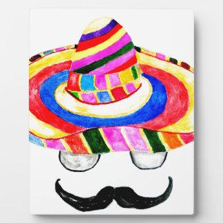 Sombrero Hat Watercolor 2 Plaque