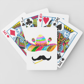 Sombrero Hat Watercolor Bicycle Playing Cards
