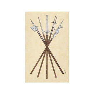 Some 16th Century Polearms Canvas Print