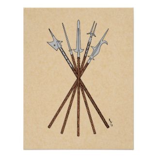 Some 16th Century Polearms Poster