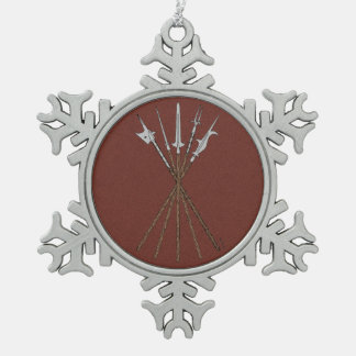 Some 16th Century Polearms Snowflake Pewter Christmas Ornament