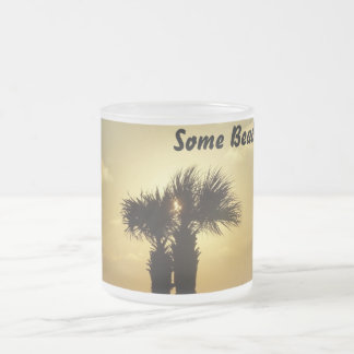 Some beach frosted glass mug