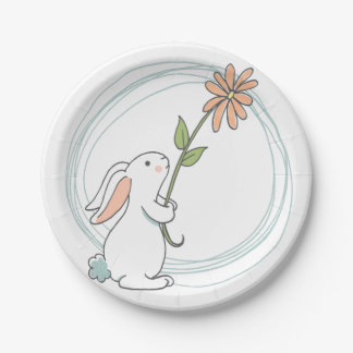 Some Bunny Birthday Plates 7 Inch Paper Plate