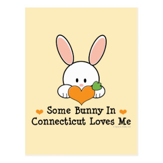 Some Bunny In Connecticut Loves Me Postcard