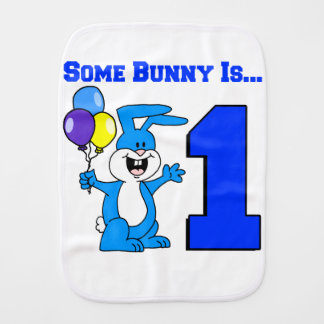 Some Bunny Is One (Blue) Burp Cloth