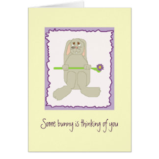 Some bunny is thinking of you greeting card