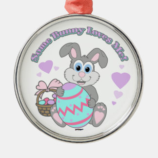 Some Bunny Loves Me! Easter Bunny Christmas Ornaments