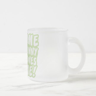 Some Bunny Loves Me Easter Frosted Glass Coffee Mug