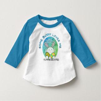 Some Bunny Loves Me Spring Easter Bunny Raglan T-Shirt