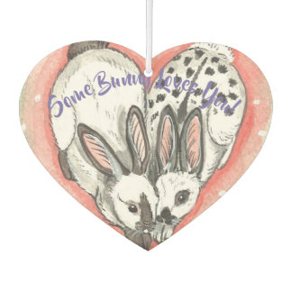"""Some Bunny Loves You"" Heart Rabbit Air Freshener"