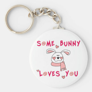 Some Bunny Loves You Keychain
