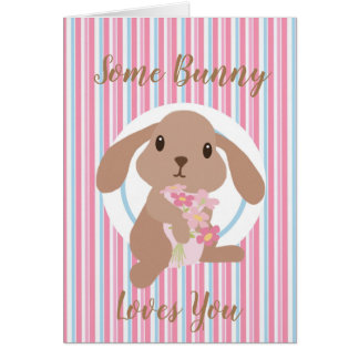 Some Bunny Loves You Personalized Card
