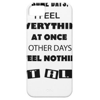 some day i fell everything at once other day, i barely there iPhone 5 case