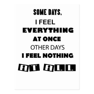 some day i fell everything at once other day, i postcard