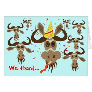 Some Gnu Stuff_We Heard...Your Good Gnus! Card