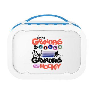 Some Grandpas Play Bingo Real Grandpas Play Hockey Lunchbox